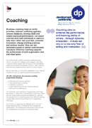 Coaching Overview